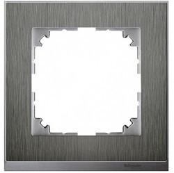 Рамка 1 пост Schneider Electric MERTEN M-PURE DÉCOR, нержавеющая сталь, MTN4010-3646