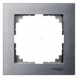 Рамка 1 пост Schneider Electric MERTEN M-PURE, алюминий, MTN4010-3660
