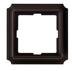 Рамка 1 пост Schneider Electric MERTEN ANTIQUE, темно-коричневый, MTN4010-4715
