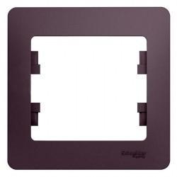 Рамка 1 пост Schneider Electric MERTEN D-LIFE, белый кристалл, MTN4010-6520