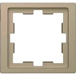 Рамка 1 пост Schneider Electric MERTEN D-LIFE, песочный, MTN4010-6533