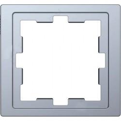 Рамка 1 пост Schneider Electric MERTEN D-LIFE, нержавеющая сталь, MTN4010-6536