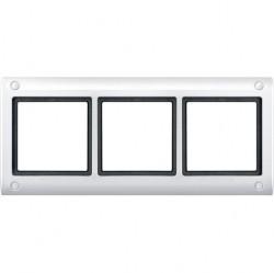 Рамка 3 поста Schneider Electric MERTEN AQUADESIGN IP44, полярно-белый, MTN401319