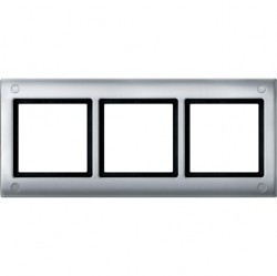 Рамка 3 поста Schneider Electric MERTEN AQUADESIGN IP44, алюминий, MTN401360