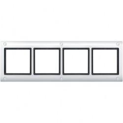 Рамка 4 поста Schneider Electric MERTEN AQUADESIGN IP44, полярно-белый, MTN401419