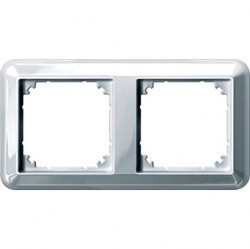 Рамка 2 поста Schneider Electric MERTEN M-TREND, полярно-белый, MTN4020-1219
