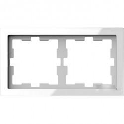 Рамка 2 поста Schneider Electric MERTEN D-LIFE, белый кристалл, MTN4020-6520