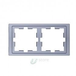 Рамка 2 поста Schneider Electric MERTEN D-LIFE, песочный, MTN4020-6533