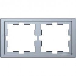 Рамка 2 поста Schneider Electric MERTEN D-LIFE, нержавеющая сталь, MTN4020-6536