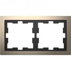 Рамка 2 поста Schneider Electric MERTEN D-LIFE, никель, MTN4020-6550