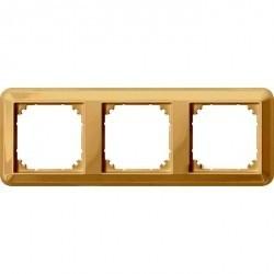 Рамка 3 поста Schneider Electric MERTEN M-TREND, горизонтальная, бежевый блестящий, MTN4030-1244