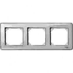 Рамка 3 поста Schneider Electric MERTEN M-CREATIV, прозрачный, MTN4030-3500