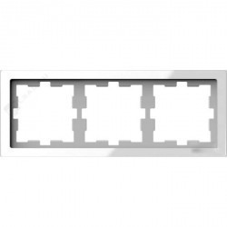 Рамка 3 поста Schneider Electric MERTEN D-LIFE, белый кристалл, MTN4030-6520