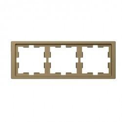 Рамка 3 поста Schneider Electric MERTEN D-LIFE, песочный, MTN4030-6533
