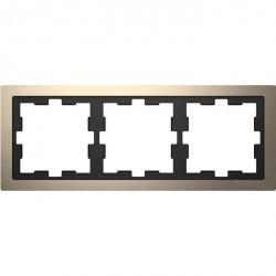 Рамка 3 поста Schneider Electric MERTEN D-LIFE, никель, MTN4030-6550