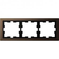 Рамка 3 поста Schneider Electric MERTEN D-LIFE, мокко, MTN4030-6552