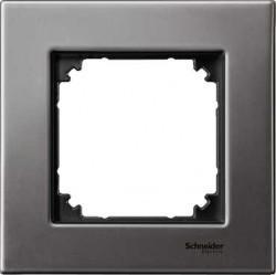 Рамка 1 пост Schneider Electric MERTEN M-ELEGANCE, серый родий, MTN403114