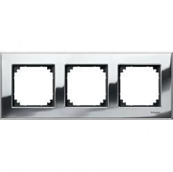 Рамка 3 поста Schneider Electric MERTEN M-ELEGANCE, хром, MTN403339