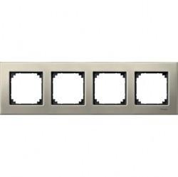 Рамка 4 поста Schneider Electric MERTEN M-ELEGANCE, титан, MTN403405