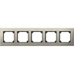 Рамка 5 постов Schneider Electric MERTEN M-ELEGANCE, титан, MTN403505