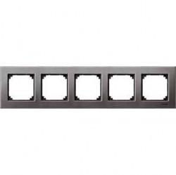 Рамка 5 постов Schneider Electric MERTEN M-ELEGANCE, серый родий, MTN403514