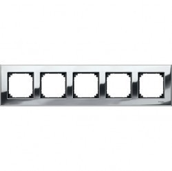 Рамка 5 постов Schneider Electric MERTEN M-ELEGANCE, хром, MTN403539
