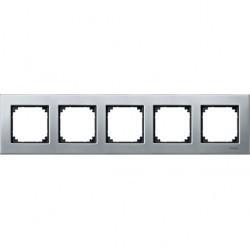 Рамка 5 постов Schneider Electric MERTEN M-ELEGANCE, платиновое серебро, MTN403560