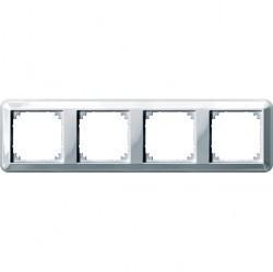 Рамка 4 поста Schneider Electric MERTEN M-TREND, горизонтальная, белый, MTN4040-1219