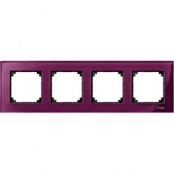 Рамка 4 поста Schneider Electric MERTEN M-ELEGANCE, рубин, MTN4040-3206