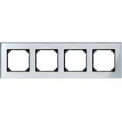 Рамка 4 поста Schneider Electric MERTEN M-ELEGANCE, алмаз, MTN4040-3260