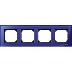 Рамка 4 поста Schneider Electric MERTEN M-ELEGANCE, сапфир, MTN4040-3278
