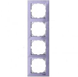 Рамка 4 поста Schneider Electric MERTEN M-PURE, бриллиантовый белый, MTN4040-3625