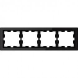 Рамка 4 поста Schneider Electric MERTEN D-LIFE, черный оникс, MTN4040-6503