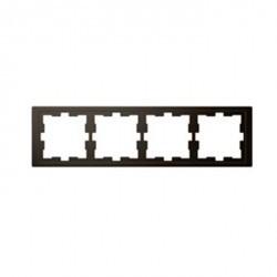 Рамка 4 поста Schneider Electric MERTEN D-LIFE, белый кристалл, MTN4040-6520