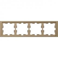 Рамка 4 поста Schneider Electric MERTEN D-LIFE, песочный, MTN4040-6533