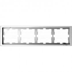 Рамка 4 поста Schneider Electric MERTEN D-LIFE, белый лотос, MTN4040-6535