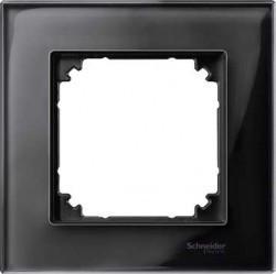 Рамка 1 пост Schneider Electric MERTEN M-ELEGANCE, черный оникс, MTN404103