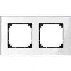 Рамка 2 поста Schneider Electric MERTEN M-ELEGANCE, бриллиантовый белый, MTN404219