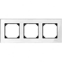 Рамка 3 поста Schneider Electric MERTEN M-ELEGANCE, бриллиантовый белый, MTN404319