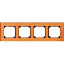 Рамка 4 поста Schneider Electric MERTEN M-ELEGANCE, кальцит, MTN404402