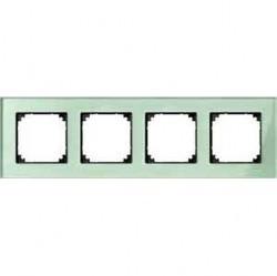 Рамка 4 поста Schneider Electric MERTEN M-ELEGANCE, изумруд, MTN404404