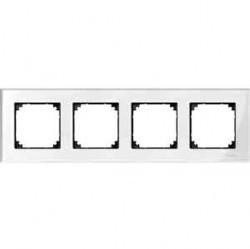 Рамка 4 поста Schneider Electric MERTEN M-ELEGANCE, бриллиантовый белый, MTN404419