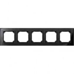 Рамка 5 постов Schneider Electric MERTEN M-ELEGANCE, черный оникс, MTN404503