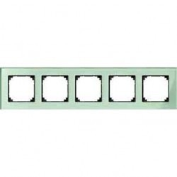 Рамка 5 постов Schneider Electric MERTEN M-ELEGANCE, изумруд, MTN404504