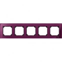 Рамка 5 постов Schneider Electric MERTEN M-ELEGANCE, рубин, MTN4050-3206
