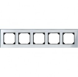 Рамка 5 постов Schneider Electric MERTEN M-ELEGANCE, алмаз, MTN4050-3260