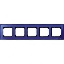 Рамка 5 постов Schneider Electric MERTEN M-ELEGANCE, сапфир, MTN4050-3278