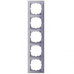 Рамка 5 постов Schneider Electric MERTEN M-PURE, полярно-белый, MTN4050-3619
