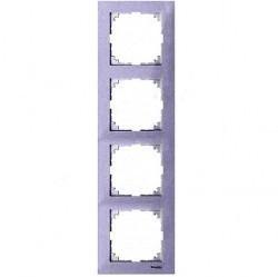 Рамка 5 постов Schneider Electric MERTEN M-PURE, бриллиантовый белый, MTN4050-3625
