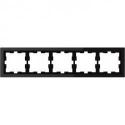 Рамка 5 постов Schneider Electric MERTEN D-LIFE, черный оникс, MTN4050-6503